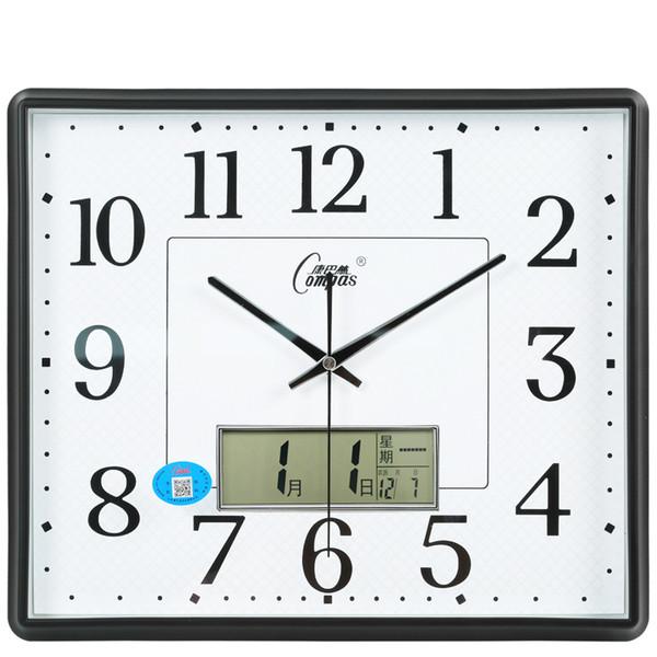 Modern Large Digital Wall Clock Living Room Silent Kitchen Clocks