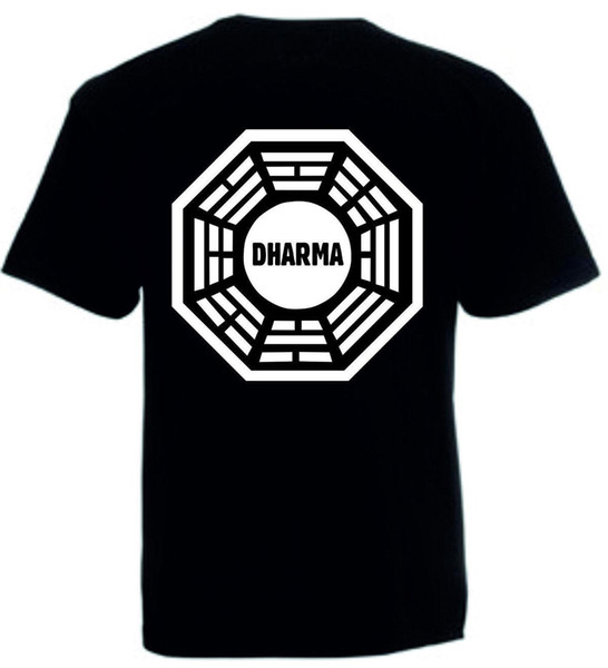 Dharma T-Shirt or Vest Lost Top Locke The Island Series 1-6 Combed Ringspun Tee Print T Shirt Mens Short Sleeve Hot Top Tee