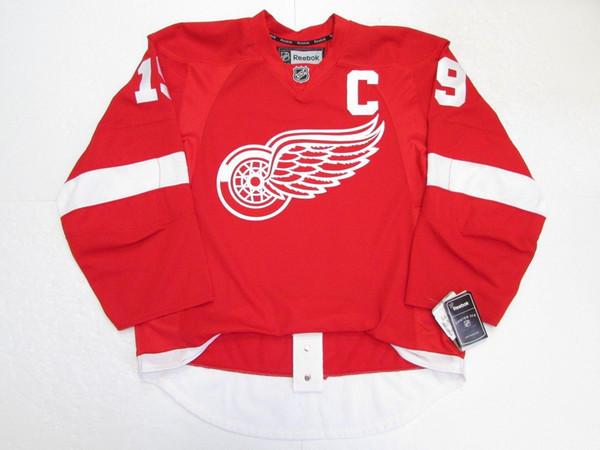 Cheap custom STEVE YZERMAN DETROIT RED WINGS HOME JERSEY stitch add any number any name Mens Hockey Jersey XS-5XL