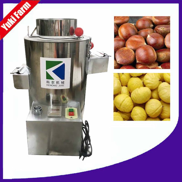 top popular automatic chestnut peeling machine small chestnut peeler commercial chestnut shelling machine electric 220v chesnut peeler stainless steel 2019