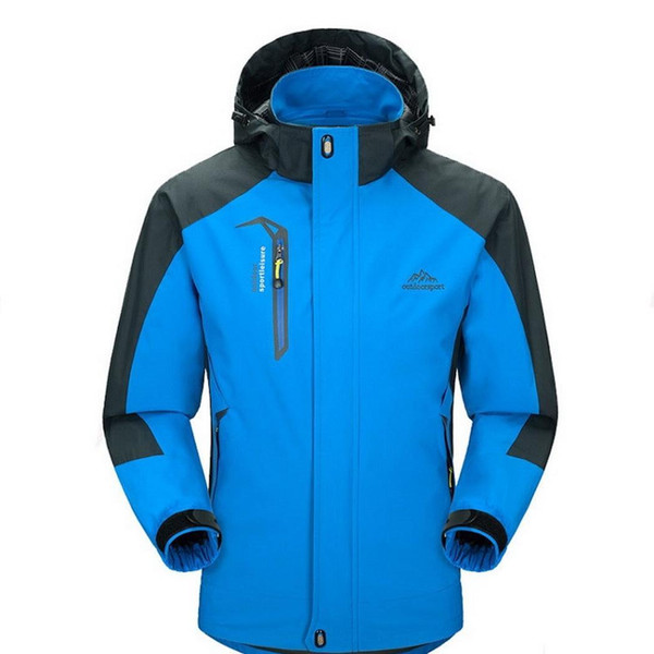 Fashion new men's outdoor sports jacket, waterproof and windproof features high collar design casual fashion simple style hooded jacket