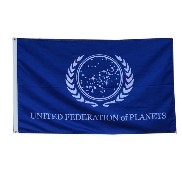 Star Trek Federation of Planets Flag Banner blue