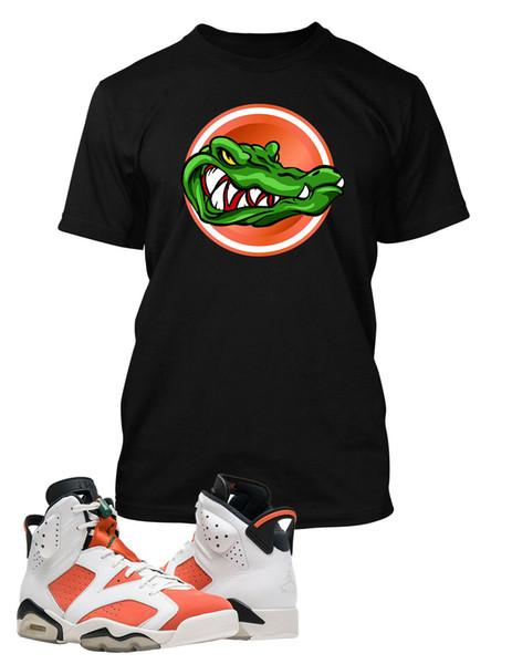 Tee Shirt Чтобы соответствовать AIR 6 Gatorade Чистки Мужской Tee Graphic Gator Классик