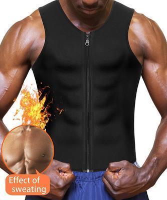 Heiße Sauna-Trainingsanzüge, Reißverschluss Tank Top Shirt für Gewicht verloren Taille Trainer Weste schlanker Gürtel Workout Fitness-atmungsaktiv ShaperWear