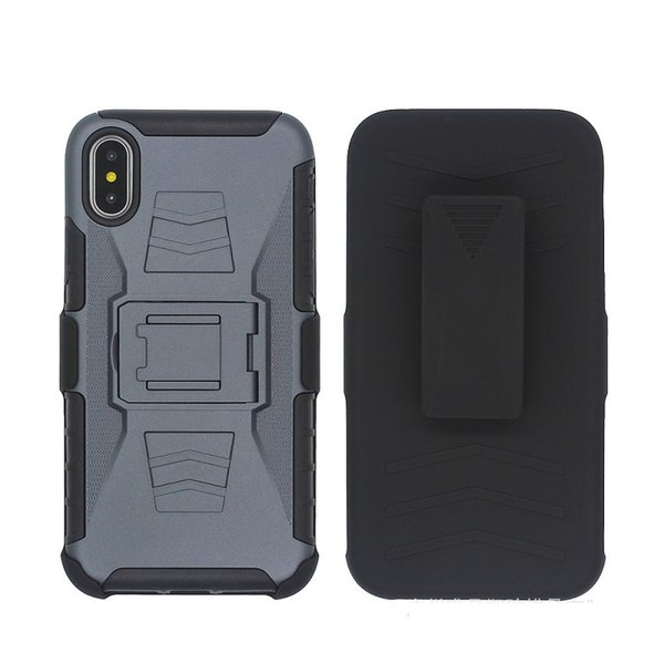 Belt Clip Holster Defender Armor Case for iphone 6 6s 7 8 Plus X Xs Max XR Shockproof Cover w/ Kickstand