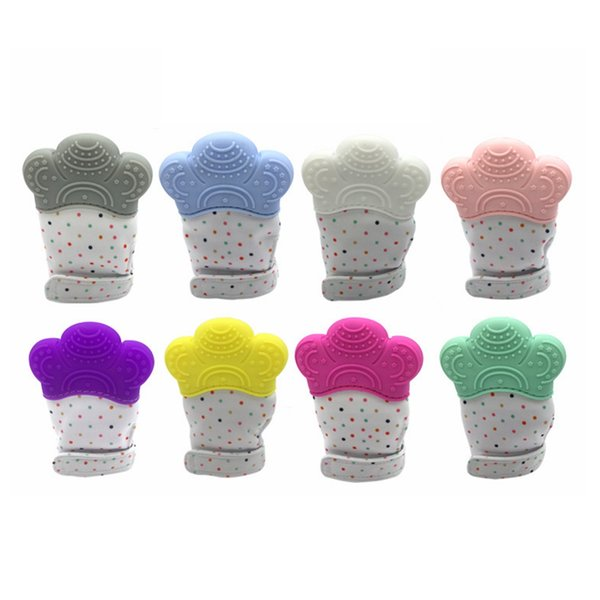 Infant Silicone Teether Pacifier Glove Baby Teething Glove Newborn Nursing Mittens Teething Chewable Nursing Beads Feeding tool AAA1831
