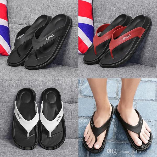 top quality designer sandals brand new summer Men Flip-Flops Beach Slippers Shoes Breathable Beach Slippers EVA Casual Massage Slipper