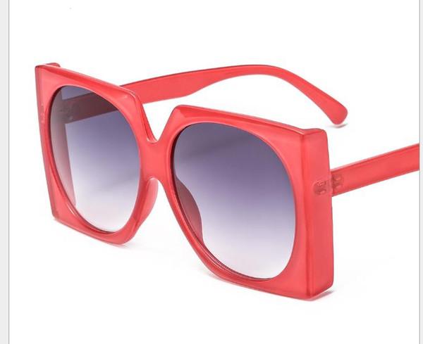 Óculos de Sol grandes europeus e americanos das senhoras do quadro óculos de sol redondos dos óculos de sol da geléia redonda