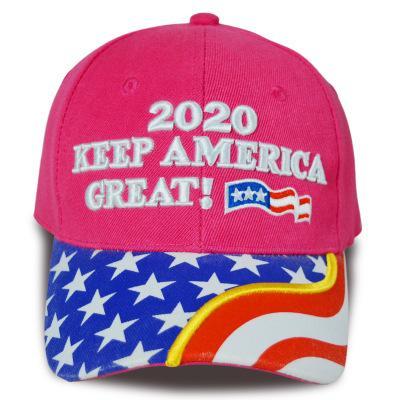 Trump 2020 gorra de béisbol que Estados Unidos sea grande otra vez 2020 viseras Elección Sombrero bordado de la bandera US carta sombreros de viajes Beach Sun