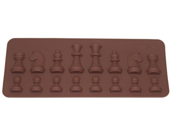 DHL Silikon Satranç Çikolata Kalıp Kek Kalıp Pişirme Dekorasyon El Yapımı Çikolata Şeker Kalıp Kalıpları Bakeware Malzemeleri
