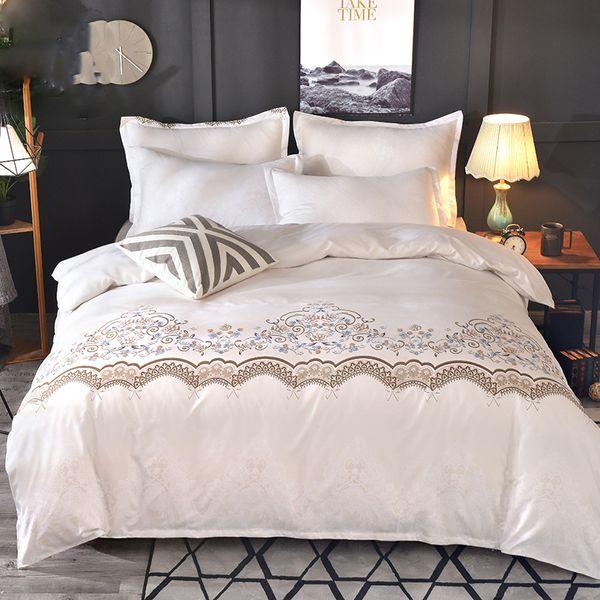 Luxury Lace Solid Color Bedding Set 3pcs Duvet Cover set Pillowcases Bed Sheet Bedclothes comforter bedding sets bed linen
