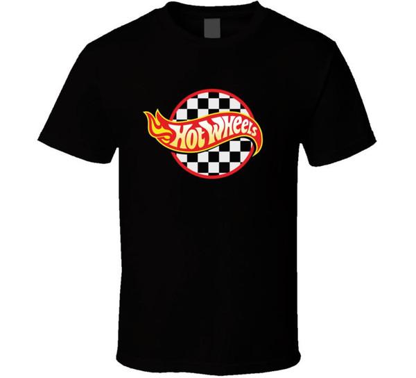 Hot Wheels, T-shirt, Corrida, Carro, Hotrod, Automotivo, Músculo, Carro, Roupas de Corrida Tops Hipster Moda Em Torno Do Pescoço Louco Top Tee