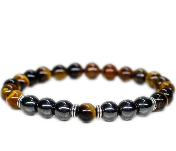 12pcs/lot Tiger eye Men bracelet African jewelry 7th anniversary gift for men boyfriend dad husband him