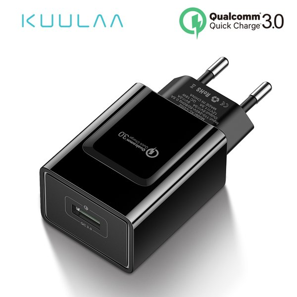 Quick Charge 3.0 Charger 18W QC 3.0 Fast Charging Phone USB Charger Adapter EU Plug Wall Charge For Xiaomi iPhone Samsung
