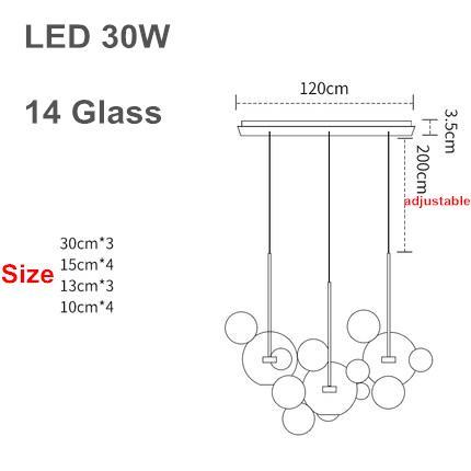 3 lampade 30cm b