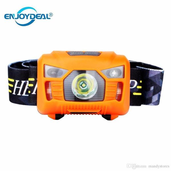 Faro 5W CREE LED Corpo del sensore di movimento Proiettore Mini faro ricaricabile di campeggio esterna capo della lampada della torcia con USB