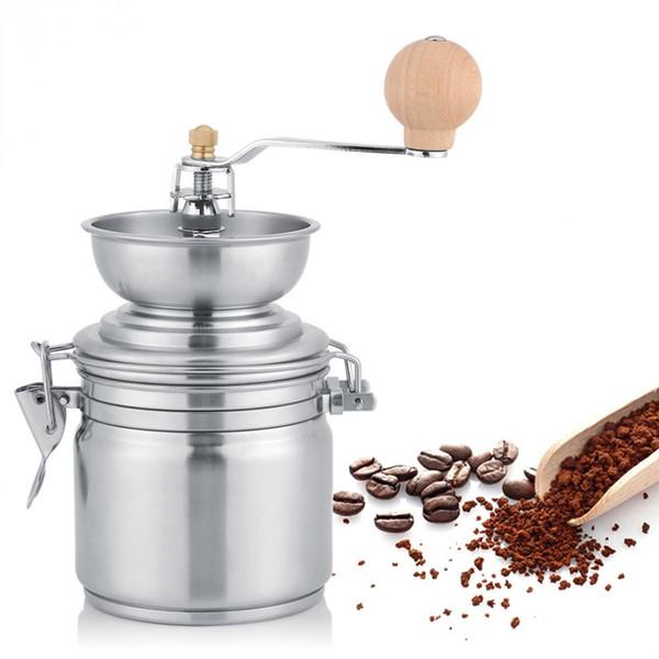 Ручная кофемолка из нержавеющей стали Ручная мельница для специй Мельница для кофе в зернах Molinillo Machine Мельница для кофе в зернах Кухонный инвентарь