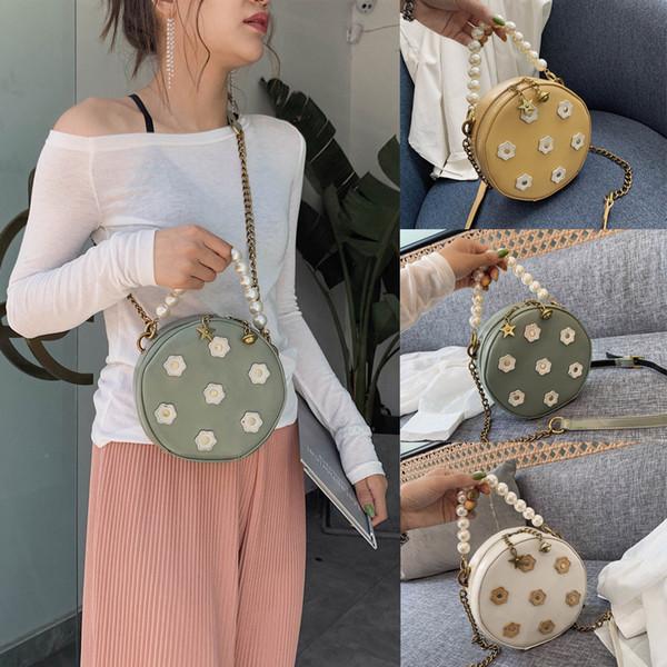 KKMHan Brand Women's Fashion Pearl Star Zipper Crossbody Shoulder Bags Purse Messenger Bag Dropshipping torebka damska bolsas