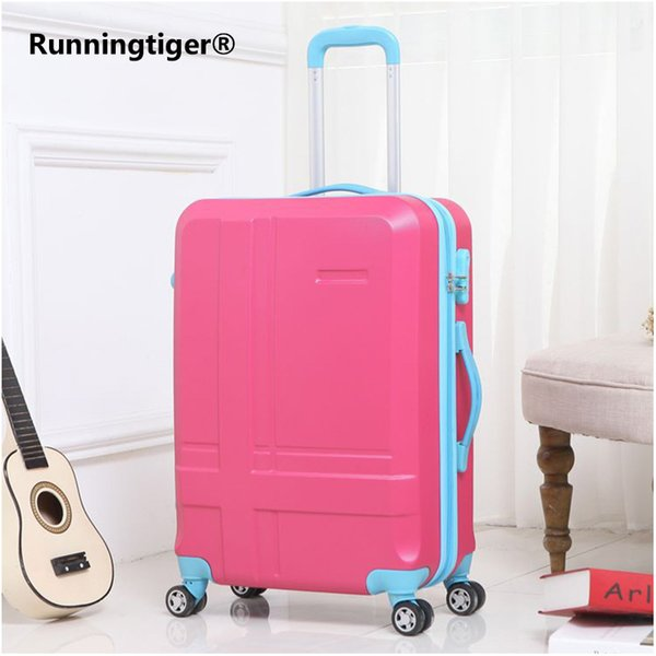 Rolling Luggage Spinner Wheels 24 inch Suitcase Trolley Men ABS+PC Travel bag Trunk Student Password box Women Carry On Luggage