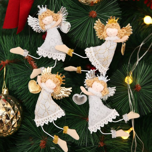 Mini Angel Doll Toy Christmas Tree Hanging Ornaments Pendant Xmas Party Decors
