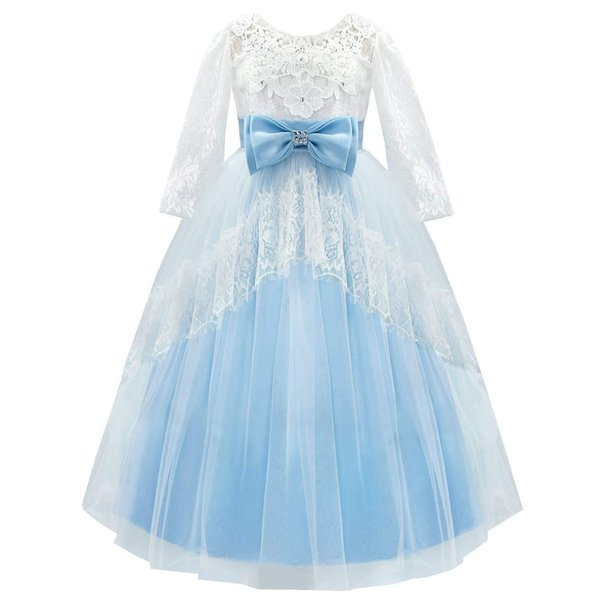 Бальное платье для девочек Платье Принцессы Спинки Кружева с цветами Необычные принцессы Одеваются Платья для девочек-цветочниц