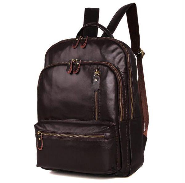 High-grade shoulder bag for men and women series air fashion leather large 15 inch computer shoulder bag