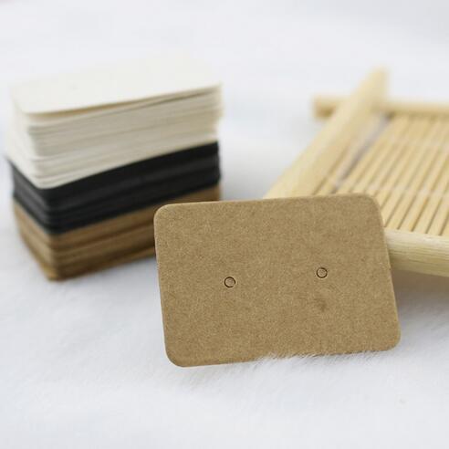 2,5x3,5 cm Leere Kraftpapier Ohrstecker Karte Fallumbau Schmuck Display Ohrring Favor Marking Kleidungsstück Preise Label Tags GB401