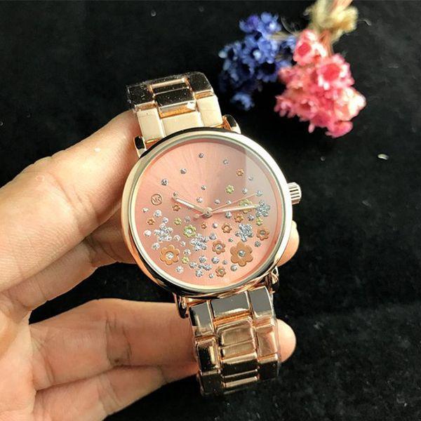 Reloj izle bayanlar lüks üst Marka moda elbise zarif tasarımcı Kadın Saatler Elmas Gül Altın Bilezik kristal tarih gün kuvars saat
