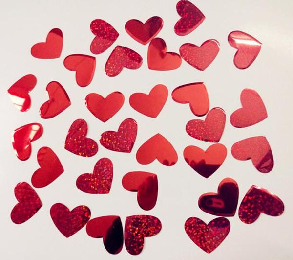 Forma de Coração vermelho Confetti Decoração De Casamento Polvilhar Confetti Confetti Balão De Casamento Festa De Casamento Decoração Suprimentos