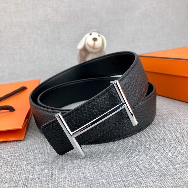 Luxury belt high-end designer fashion brand men and women gold and silver buckle belt hot sales business belt quality no boxes