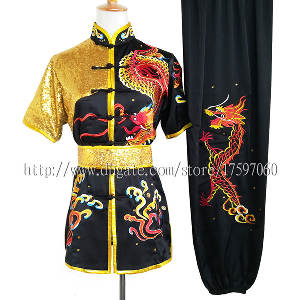 best selling Chinese Wushu uniform Kungfu clothes taolu costume Martial arts outfit Embroidery garment Routine kimono for men women boy girl kids