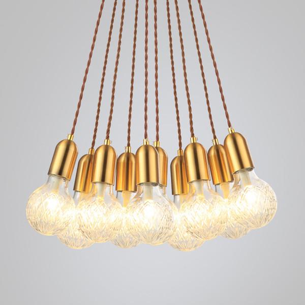Modern G9 LED Kolye Işıkları Kristal Cam Handlamp Nordic Kolye Lambalar Oturma Odası / Restoran / Ev Aydınlatma AC110V / 220 V