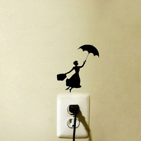 Mary Poppins Bedroom Vinyl Light Switch Stickers Wall Decals