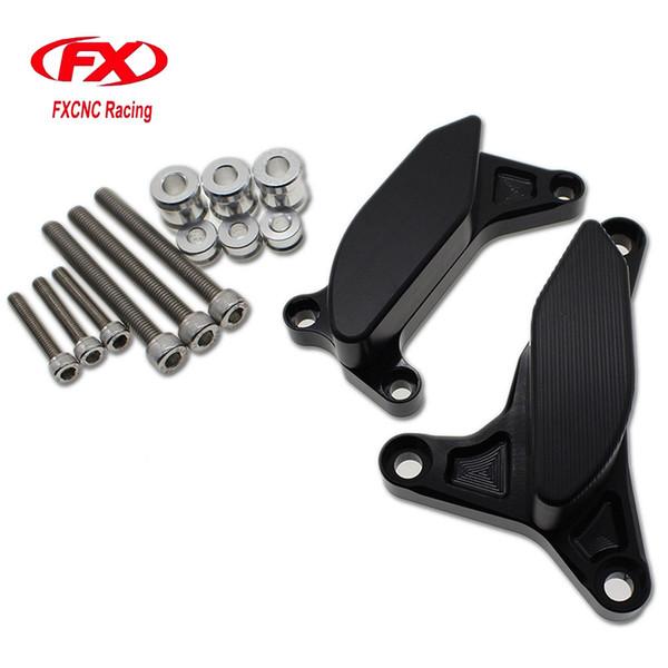 FXCNC alluminio Moto Engine caso Sliders rilievo copertura Crash di caduta della protezione della protezione per Yamaha FZ8 2012 - 2013 Accessori