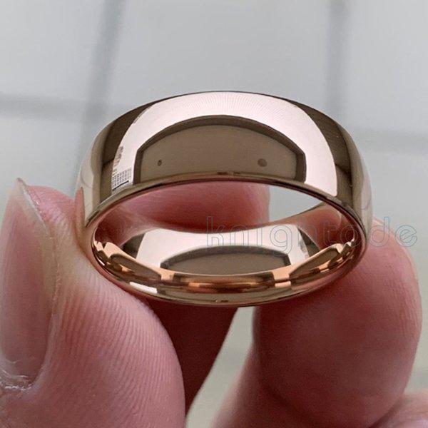 8 millimetri in oro rosa