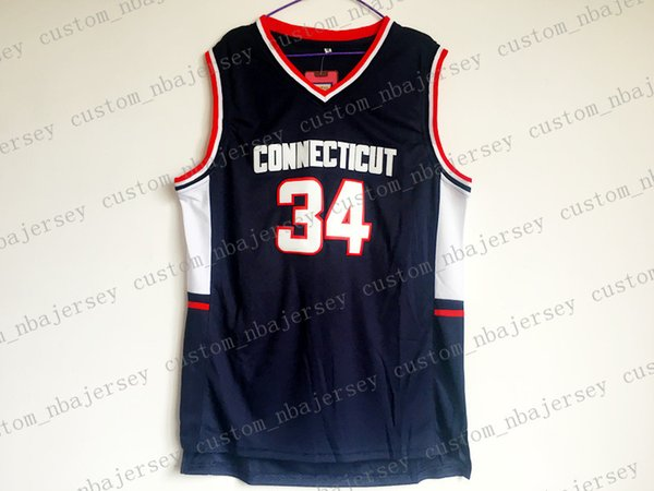 Ray Allen #34 Connecticut College Basketball Jerseys Stitched Size S-XXL Free Shipping