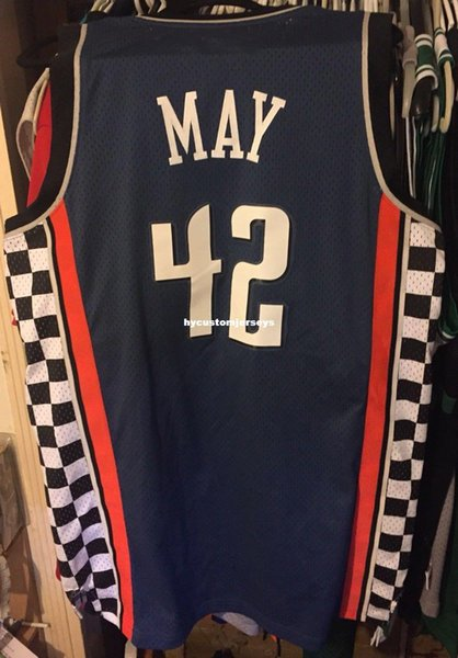 Cheap wholesale Sean May #42 Jersey Men AD Sewn Rare T-shirt vest Stitched Basketball jerseys Ncaa