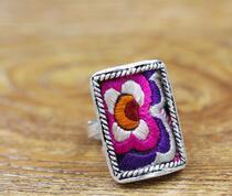925 handgestickter Ring weibliche Modeaccessoires entwerfen alte Stickereien weibliche Geschenke mehr Optionen