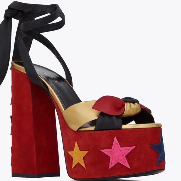 2019 nuevo Thrill Heels sandalias mujeres vestido de fiesta zapatos de boda cartas Sexy zapatos de charol tacones altos size35-41 con caja w21