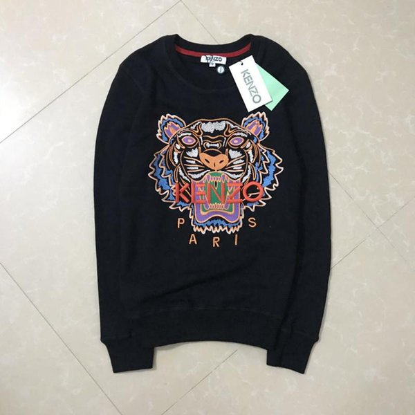 2019 Embroidery Tiger Head Sweater XXLKenzo Man Woman High Quality Long Sleeve O Neck Pullover Hoodies Sweatshirts Jumper Best Quality Jgfft From