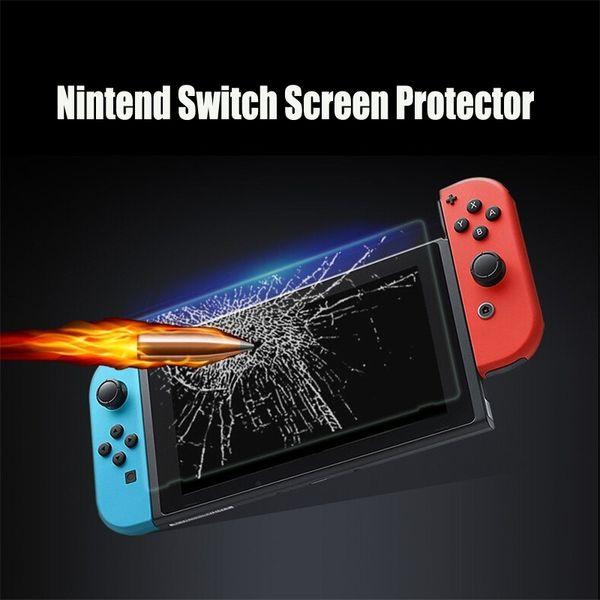 Pour Nintendo Switch Protecteur D'écran En Verre Trempé Protecteur Film Cover Cover 2.5D 9H Console Consola NS Accessoires