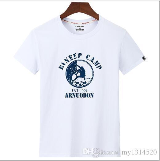 2019 novo desgaste dos homens designer T-shirt dos homens de algodão puro lazer primavera e verão nova marca de moda europeia e americana, b
