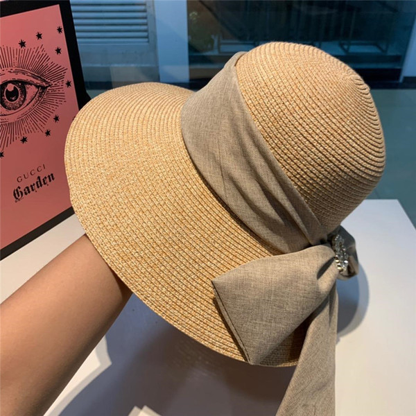 Foldable Brand Straw Sun Hat For Women Men Unisex British Style Sunshade Beach Panama Jazz Top Hat Vintage Female Male 2019 Summer Vacation