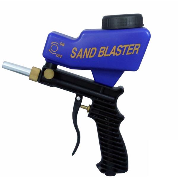 Tragbare Gravity Gun Sandblasting Sandblasting Startseite DIY Pneumatic Set Rust Strahlgerät Sandstrahlmaschine
