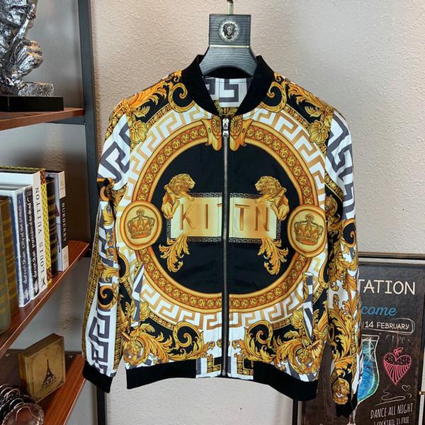 Niza 2019 otoño nuevos hombres chaquetas exquisita y original diseño exterior adolescente Escudo Personalidad impresión W88740