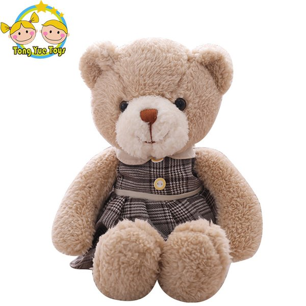 38cm Cute Lovers Bear Plush Toys Stuffed Lovely Male and female Teddy bear Couples Dolls Kawaii Birthday Gift for Girls