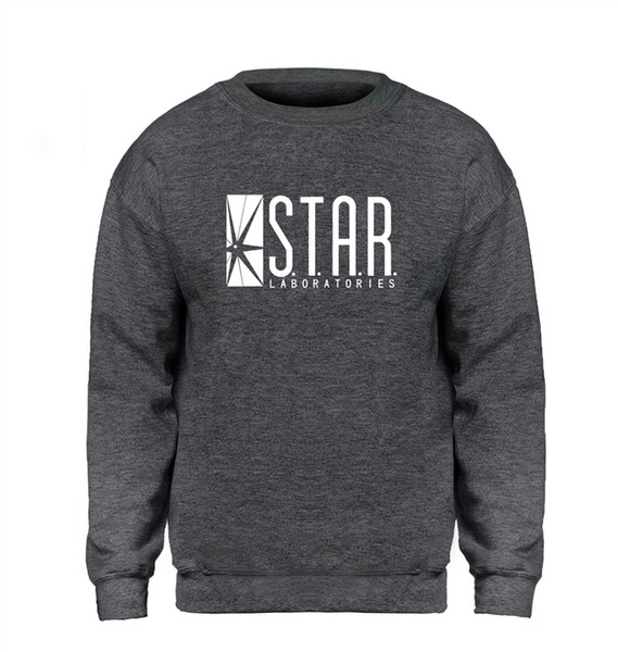 The Flash Star Laboratories Hoodie Winter Fleece Coat Unisex Sweatshirts Jacket