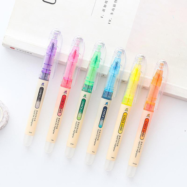 2019 Fluorescent Scribble Pen Straight Liquid Student Candy Color Draw Key Marker Pen Large Capacity Highlighters Pens From Georgely 38 88