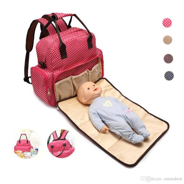 Multi-Funcional Ultra-Grande Capacidade À Prova D 'Água Moda Bebê Saco De Mamãe Mochila, Pacote De Maternidade, Saco De Fraldas Disponível Para O Bebê Deitado,