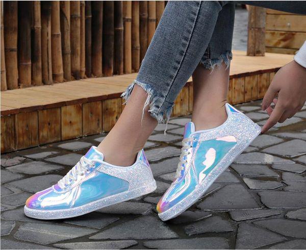 Четыре сезона мода, комфорт и мода женская спортивная обувь прилив, молодежь ослепительно красочные настольные туфли, четыре сезона отдыха обувь размер 36